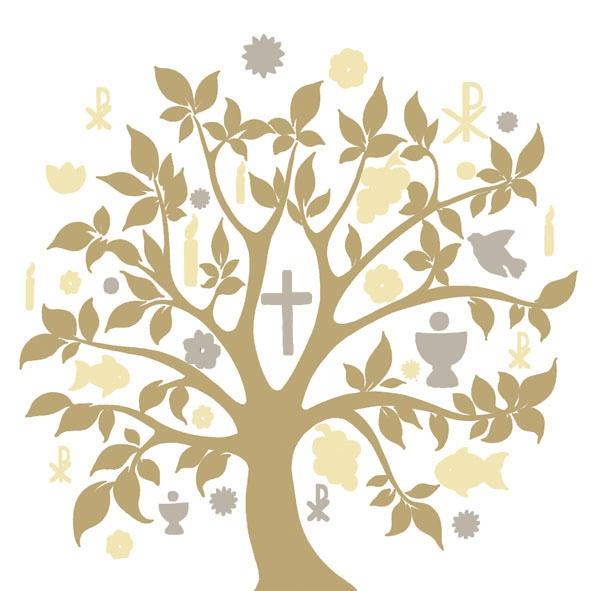 Lunch Servietten Communion Symbols Gold