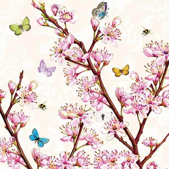 Servietten nach Firmen,  Tiere - Schmetterlinge,  Blumen -  Sonstige,  Everyday,  lunchservietten,  Blüten,  Schmetterlinge