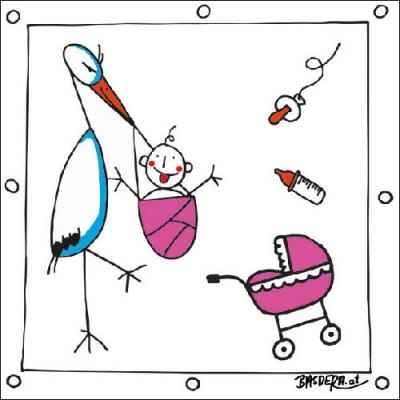 Lunch Servietten Hello Girl,  Ereignisse - Geburt,  Everyday,  lunchservietten,  Baby,  Geburt,  Mädchen