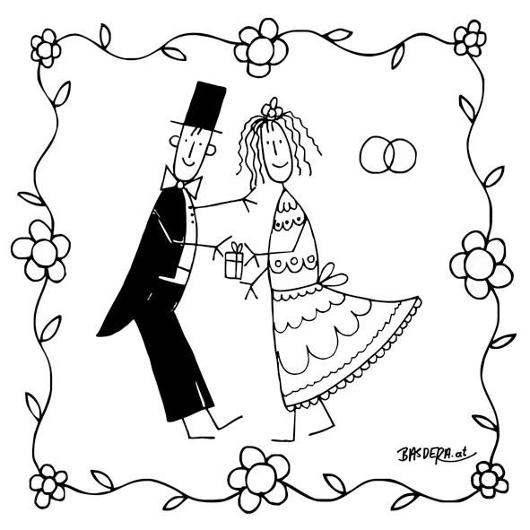 Lunch Servietten Happy Marriage,  Ereignisse - Hochzeit,  Everyday,  lunchservietten,  Hochzeit
