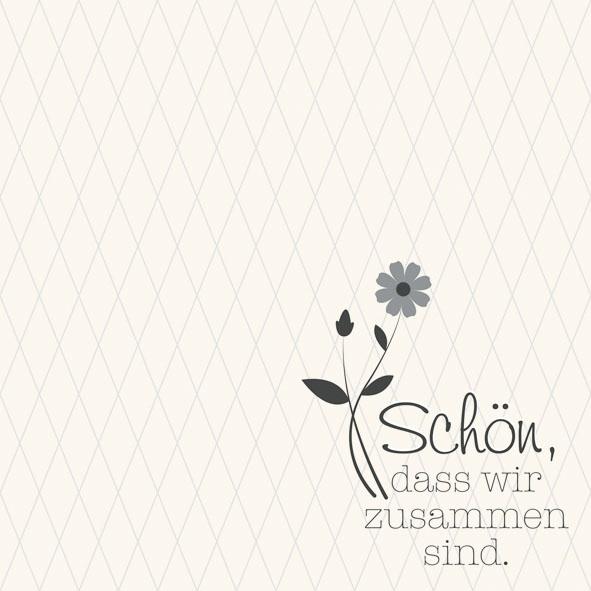 Lunch Servietten Zusammen Grau,  Sonstiges - Schriften,  Everyday,  lunchservietten,  Schriften