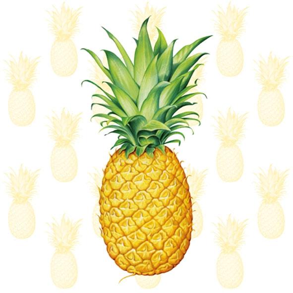 Servietten nach Jahreszeiten,  Früchte -  Sonstige,  Sommer,  lunchservietten,  Ananas