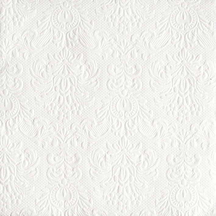 Dinner Servietten ELEGANCE WHITE , dinnerservietten,  Ornamente