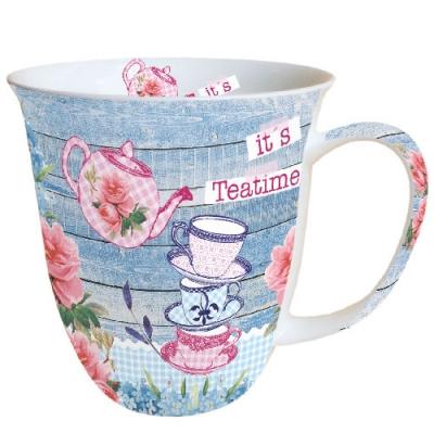 Porzellan-Henkelbecher Its Teatime,  Tassen,  Tee