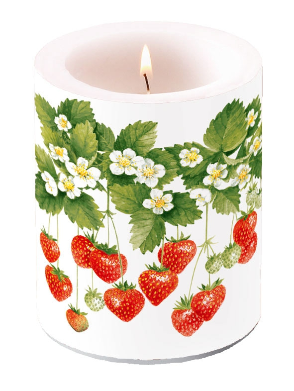 Kerze CANDLE SUMMER FRUITS,  Erdbeeren