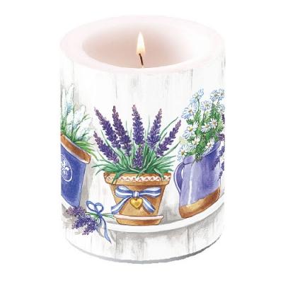 Kerze CANDLE LAVENDER RANGE,  Lavendel