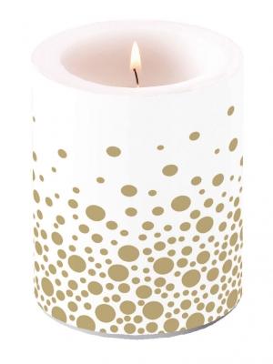 Kerze Sparkling Dots Gold,