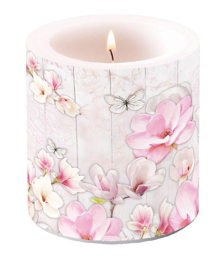 Bougie Decorative Petite Jardin Magnolia De Servietten Wimmel