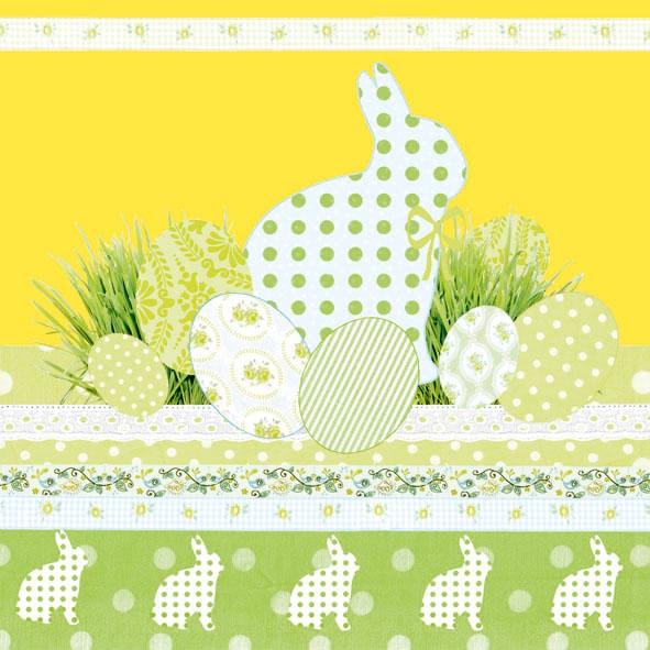 Servietten Ostern,  Ostern - Hasen,  Ostern - Ostereier,  Ostern,  Ostern,  lunchservietten,  Ostereier,  Osterhasen