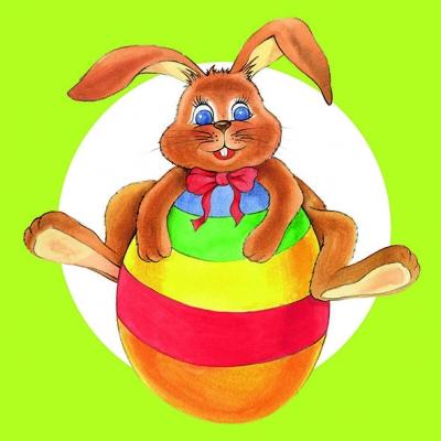 Dekorkerzen - rund - groß,  Ostern - Ostereier,  Ostern - Hasen,  Ostern,  lunchservietten,  Ostereier,  Osterhasen,  grün