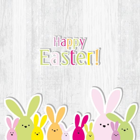 Lunch Servietten Funny Bunny,  Sonstiges - Schriften,  Ostern - Hasen,  Ostern,  lunchservietten,  Osterhasen,  Schriften