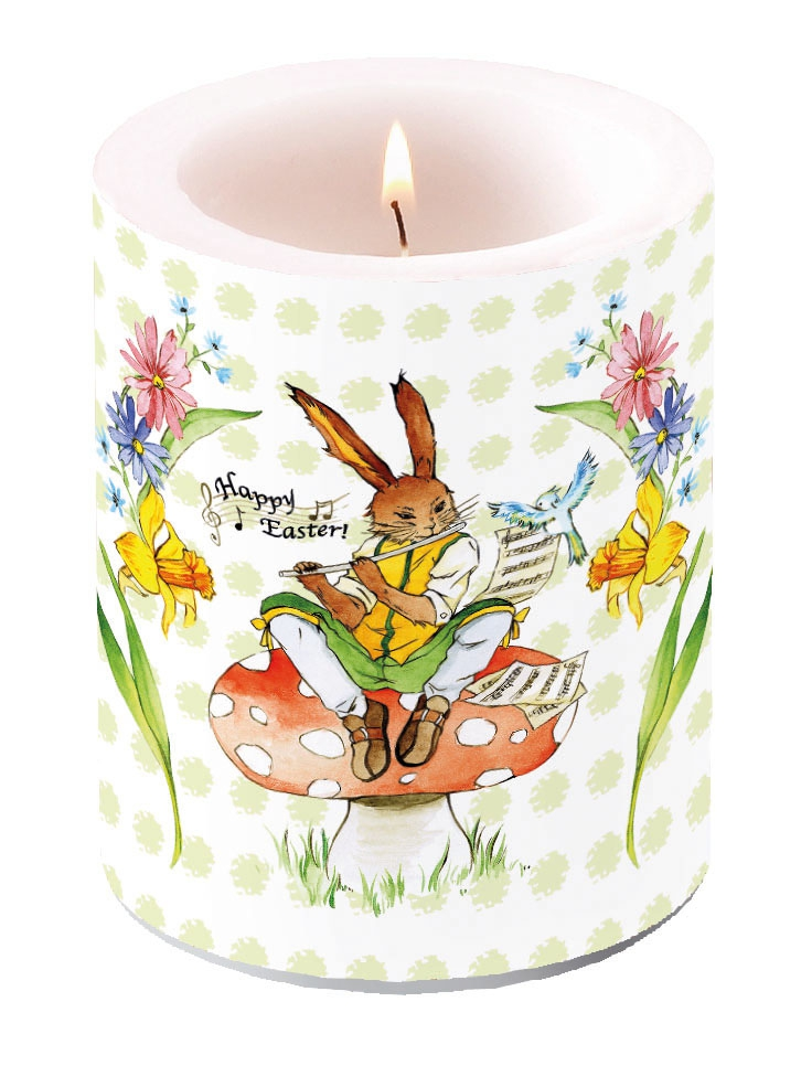 Kerze Easter Song Green,