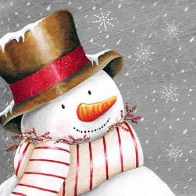 Cocktail Servietten Smiling Snowman,  Weihnachten,  cocktail servietten