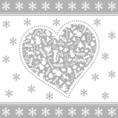 Servietten,  Weihnachten,  cocktail servietten,  Herz