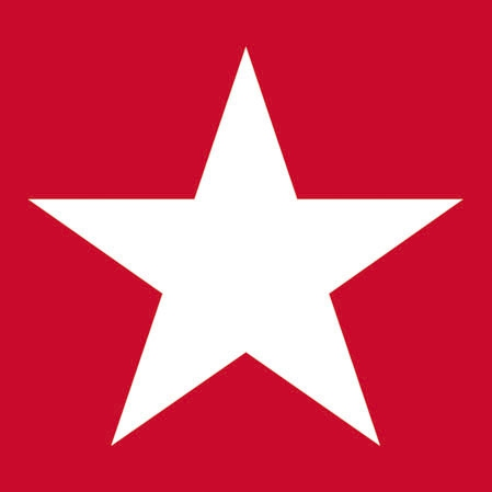 Cocktail Servietten STAR RED