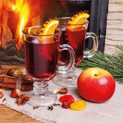 Servietten 25 x 25 cm,  Gemüse -  Sonstiges,  Weihnachten,  cocktail servietten,  Glühwein