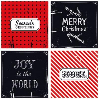 Cocktail Servietten Christmas Wishes Red,  Sonstiges - Schriften,  Weihnachten,  cocktail servietten,  Grüße