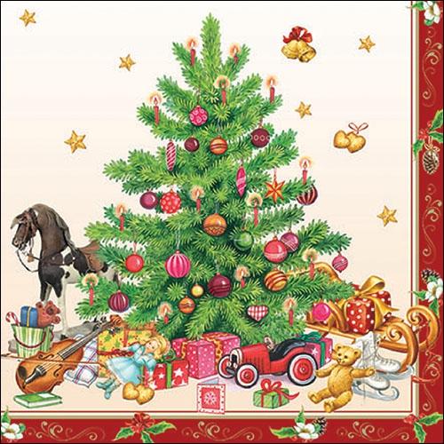 Lunch Servietten NOSTALGIC CHRISTMAS TREE,  Weihnachten - Baumschmuck,  Weihnachten,  lunchservietten