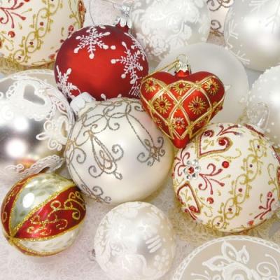 Lunch Servietten Christmas Balls,  Weihnachten,  lunchservietten,  Baumkugeln