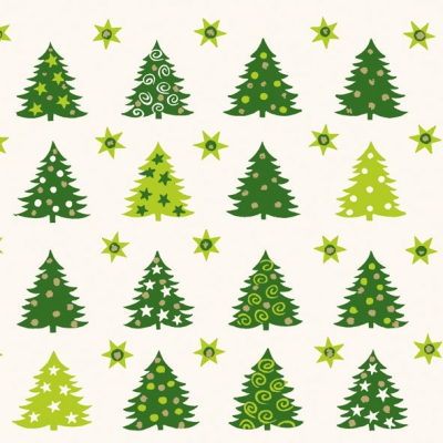 Lunch Servietten Forest of Trees green,  Weihnachten - Sterne,  Weihnachten - Weihnachtsbaum,  Weihnachten,  lunchservietten