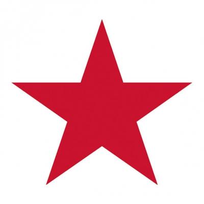 Lunch Servietten STAR WHITE/RED