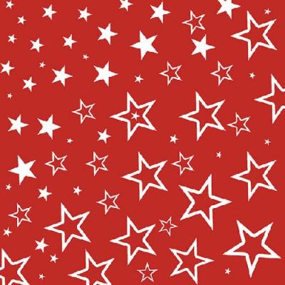 Lunch Servietten STARRY SKY RED ,  Weihnachten - Sterne,  Weihnachten,  lunchservietten,  Sterne