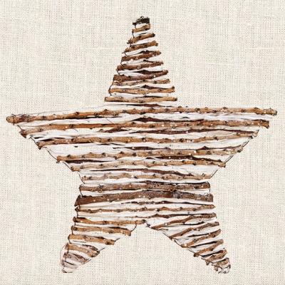 Lunch Servietten WOODEN STAR ,  Weihnachten - Sterne,  Weihnachten,  Weihnachten,  lunchservietten,  Sterne,  Holz