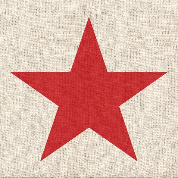 Lunch Servietten STAR LINEN RED