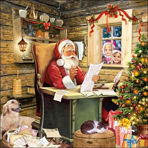 Lunch Servietten SantaS Mail