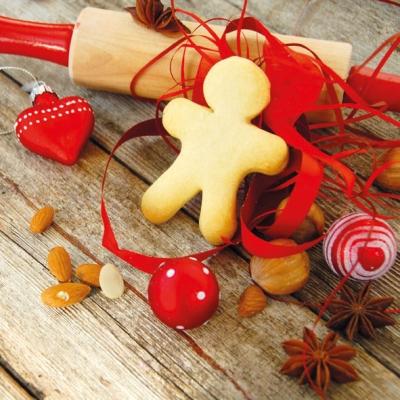 Lunch Servietten X-Mas Cookies,  Essen - Kuchen / Keks,  Weihnachten,  lunchservietten,  Kekse