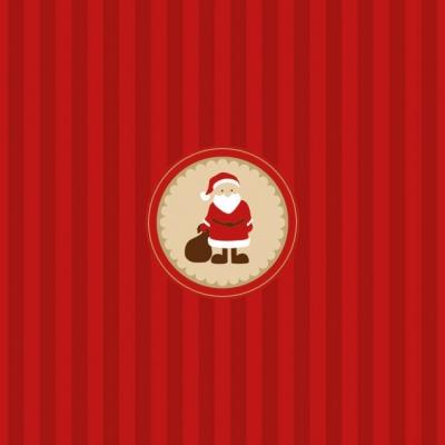 Lunch Servietten Santa Medallion,  Weihnachten - Weihnachtsmann,  Weihnachten,  lunchservietten,  Weihnachtsmann,  Streifen