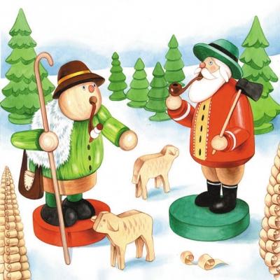 Motivservietten Gesamtübersicht,  Sonstiges -  Sonstiges,  Weihnachten,  lunchservietten,  Räuchermännchen
