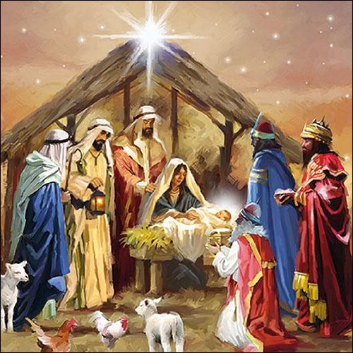 Lunch Servietten Nativity Collage