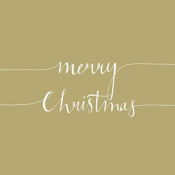 Napkins 33x33 cm - Christmas Note Gold
