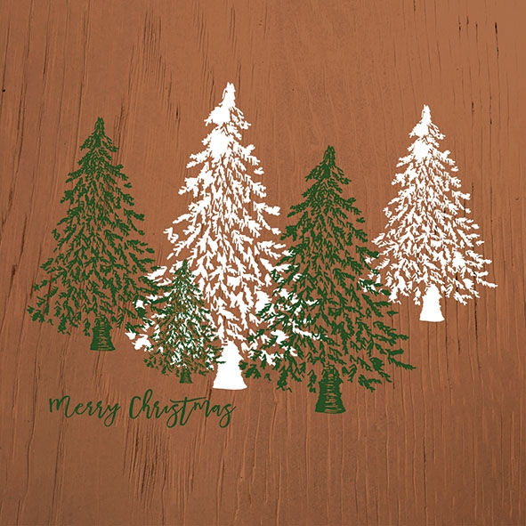 Napkins 33x33 cm - Wooden Trees Brown
