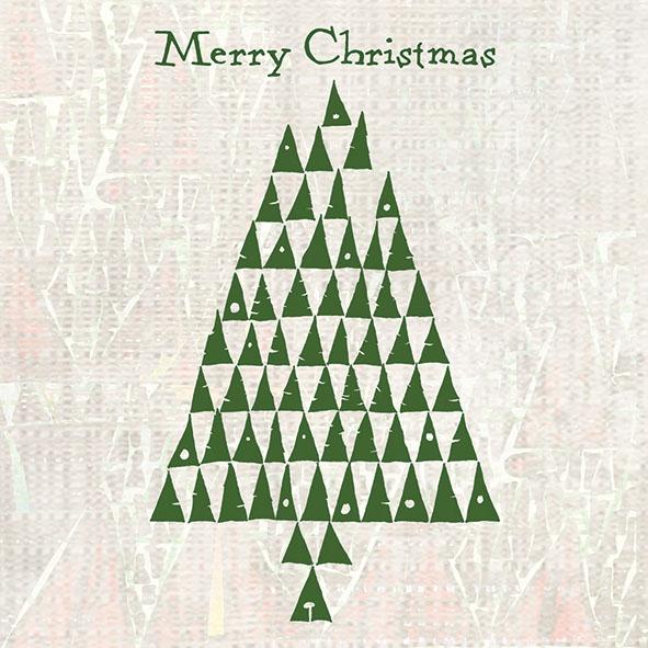Napkins 33x33 cm - Triangle Tree Green
