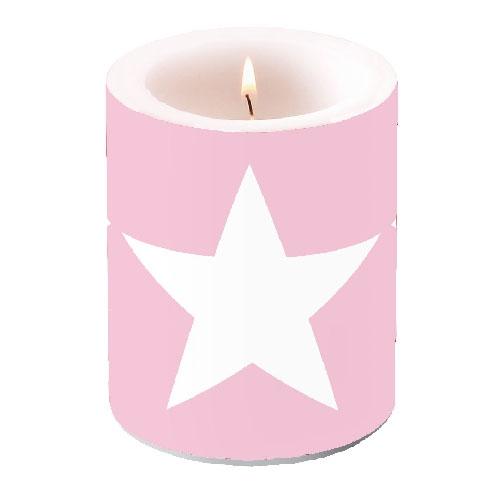 Kerze CANDLE STAR ROSE,  Sterne