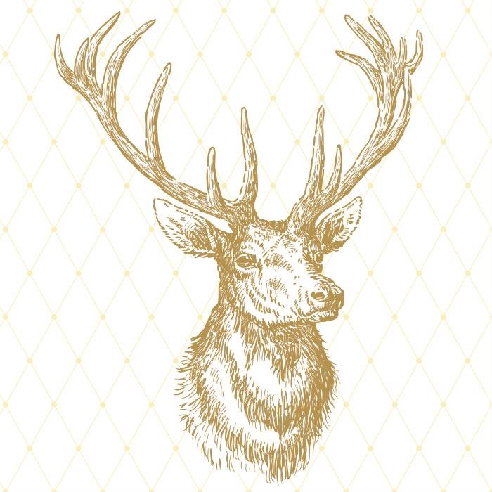 Lunch Servietten Elegant Elk gold