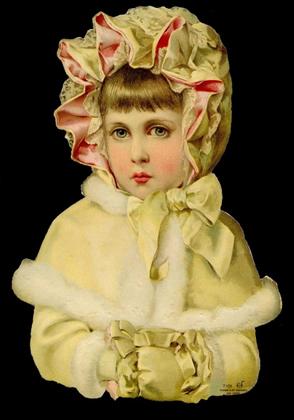 Glanzbilder Mädchen im Winter,  Glanzbilder,  Glanzbilder,  Kinder,  Viktorian Mädchen