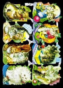 Glanzbilder mit Glimmer 8 Katzen,  Tiere,  Glanzbilder mit Glimmer,  Glanzbilder mit Glimmer,  Katzen