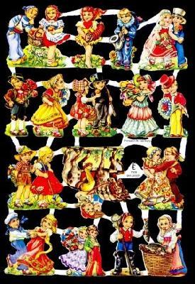 Poesiebilder / Glanzbilder,  Glanzbilder mit Glimmer,  Glanzbilder mit Glimmer,  Kinder
