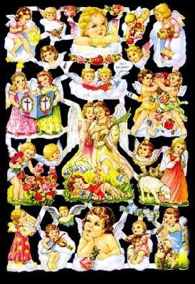 Glanzbilder Engel,50er Jahre