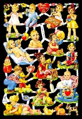 1 Bogen Glanzbilder ,  Glanzbilder,  Kinder,  Baby,  Kinder,  Teddybär