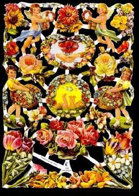 Glanzbilder Blumen/Kinder,50er Jahre,  Glanzbilder,  Glanzbilder,  Kinder,  Rosen,  Hochzeit