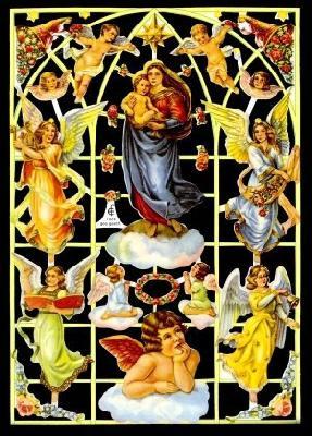 Glanzbilder mit Goldglimmer,  Engel,  Glanzbilder mit Gold Glimmer,  Engel