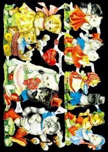 Glanzbilder Katzenpaare,50er Jahre,  Glanzbilder,  Glanzbilder,  Katzen,  Hochzeit