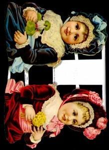 1 Bogen Glanzbilder ,  Glanzbilder,  Glanzbilder,  Kinder,  Mädchen