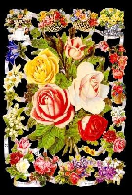 Glanzbilder Rosenstrauß,Jugendtraum,  Blumen,  Glanzbilder,  Glanzbilder,  Rosen