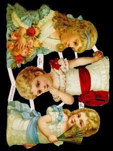 Glanzbilder 3 Mädchen,Jugendtraum,  Kinder,  Glanzbilder,  Glanzbilder,  Kinder