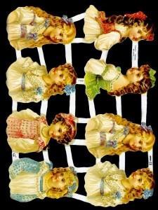 1 Bogen Glanzbilder ,  Kinder,  Glanzbilder,  Glanzbilder,  Mädchen,  Kinder